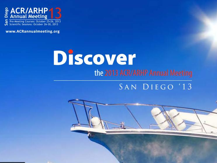 2013 ANNUAL MEETING OF AMERICAN COLLEGE OF RHEUMATOLOGY (ACR) AND