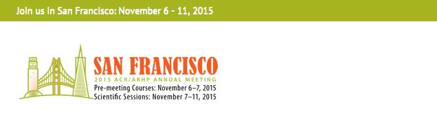 American College Of Rheumatology (ACR/ARHP) Annual Meeting | AllCongress