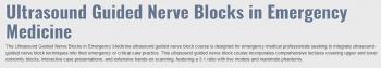 ULTRASOUND-GUIDED NERVE BLOCKS IN EMERGENCY MEDICINE