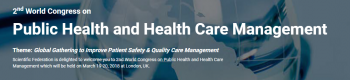 2nd World Congress on Public health and Health care management 2018