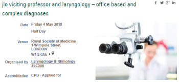 LARYNGOLOGY – OFFICE BASED AND COMPLEX DIAGNOSES