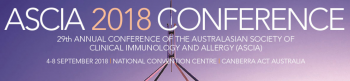 29th Annual Conference of the Australasian Society of Clinical Immunology and Allergy (ASCIA)