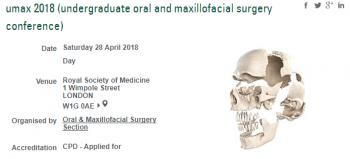 Undergraduate Oral and Maxillofacial Surgery Conference (UMAX) 2018