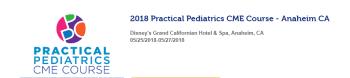 Practical Pediatrics CME Course – Anaheim