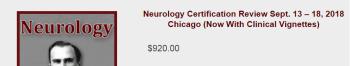 Neurology Certification Review Course 2018