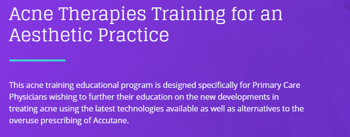 Acne Therapies Training for an Aesthetic Practice by Empire